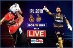 IPL 2019, KKRvs RCB, LIVE: कोलकाता ने टॉस जीतकर पहले गेंदबाजी का फैसला लिया