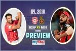 IPL 2019, RCB vs KXIP, Preview: टूर्नामेंट में बने रहने के लिए बेंगलुरू चाहेगा जीत