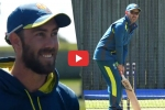 VIDEO : बिना दस्ताने और पैड के बल्लेबाजी करने उतरे कोच जस्टिन लैंगर, ग्लेन मैक्सवेल ने लिए मजे