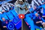 शैम्पेन बोतल के खुलते ही भाग निकले इंग्लैंड के 2 मुस्लिम क्रिकेटर, वीडियो वायरल