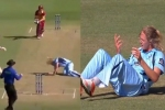 VIDEO : महिला क्रिकेटर के साथ हुआ बड़ा हादसा, जा सकती थी जान