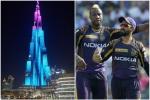 IPL 2020: कोलकाता नाइट राइडर्स का भव्य स्वागत, KKR के रंगों में रोशन हुआ बुर्ज खलीफा- VIDEO
