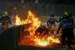 Video: फार्मूला वन रेस के दौरान लगी आग, दो टुकड़ हुई कार, बाल-बाल बचे रोमैन ग्रोसजेन