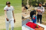 एयरपोर्ट से उतरकर सीधे पिता के कब्र पर श्रद्धांजलि देने पहुंचे मोहम्मद सिराज