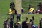 VIDEO : छोटी बच्ची के सिर पर लगा सोफी डिवाइन का शॉट, देखिए फिर उसने क्या किया