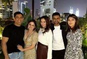 परिवार समेत मिले मिले एमएस धोनी और सानिया मिर्जा, साथ मिलकर मनाया साक्षी का बर्थडे