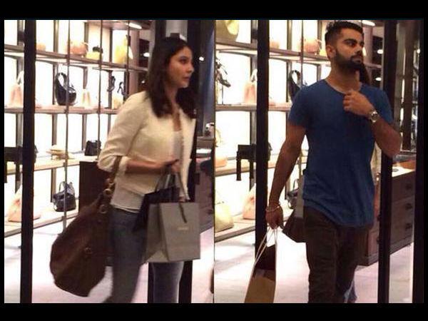 Pics: Virat Kohli Anushka Sharma Caught Shopping In Delhi
