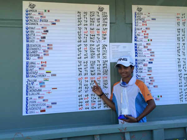Year Old Shubham Jaglan Wins Second World Junior Golf Title In Two Weeks