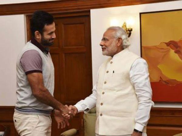Irfan Pathan Met Pm Narendra Modi Invites His Wedding Reception