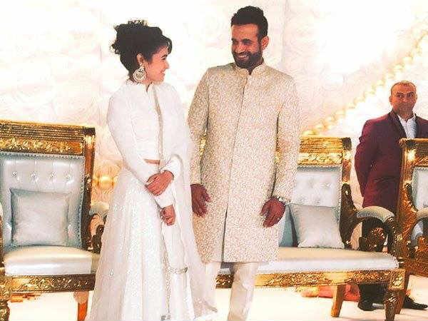 Pics Cricketer Irfan Pathan Safa Wedding Reception In Vadodara