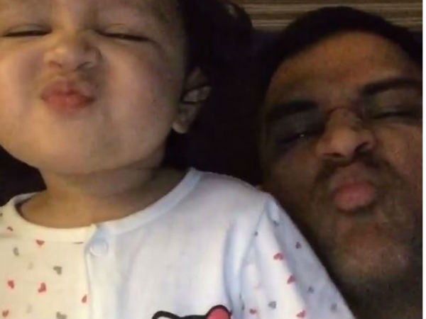 Watch Sakshi Shares Adorable Videos Of Ms Dhoni Daughter Ziva