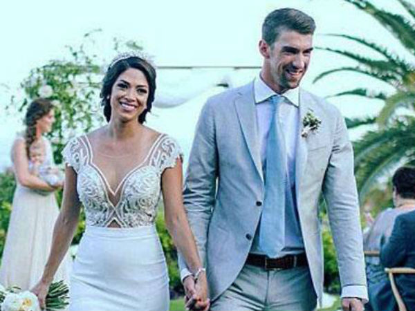 Michael Phelps Nicole Johnson Share First Photos From Cabo Wedding