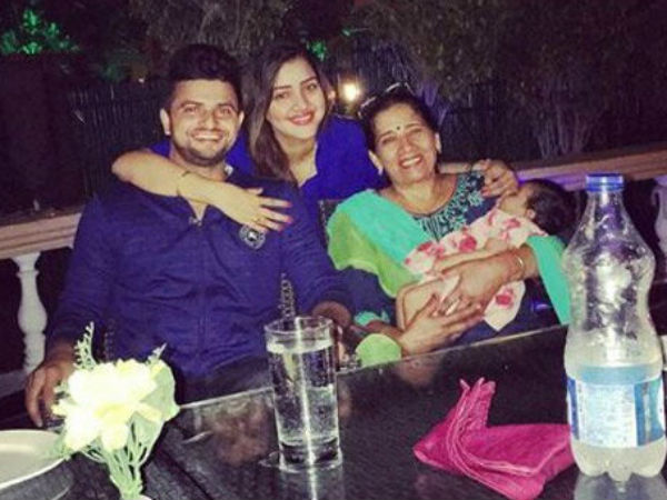 Cricketer Suresh Raina Enjoying Holiday With Wife Daughter Pictures