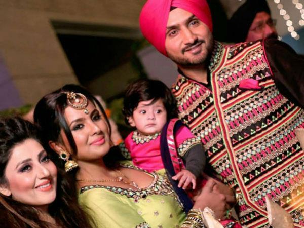 Harbhajan Singh Geeta Basra Celebrate Daughter S First Lohri