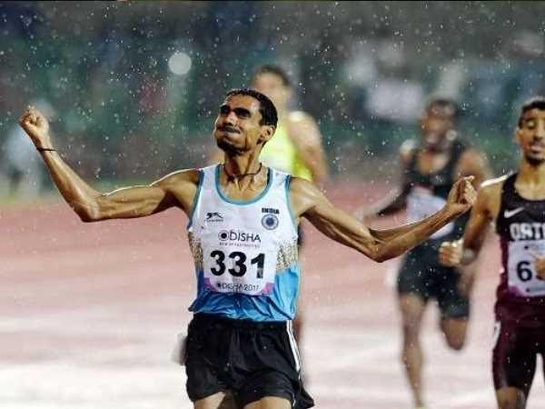 Ajay From Allahabad Won Gold Asian Athletics Championship