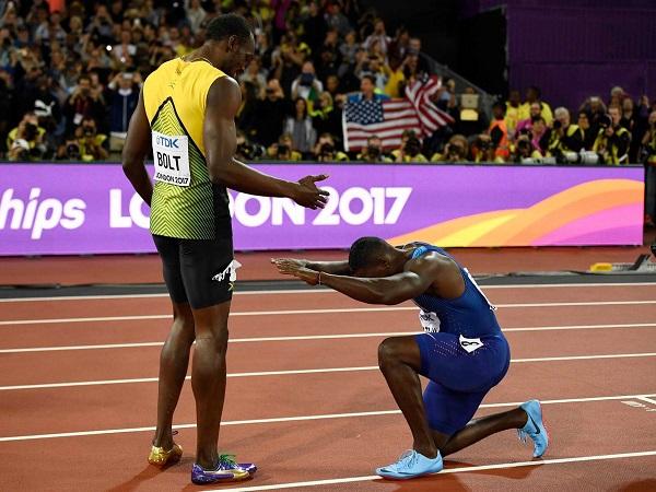 Usain Bolt Finishes Third Americans Justin Gatlin His Last Race