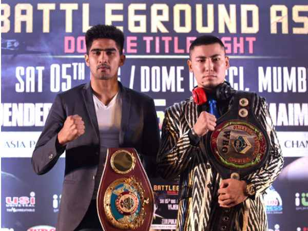 Vijender Singh And Chinese Fighter Indulge Into Cold War