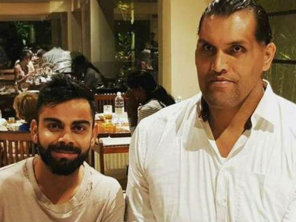 Jab Virat Kohli Met The Great Khali Viral Pictures