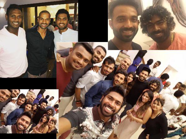 India Vs Sri Lanka Sri Lankan Bowler Lasith Malinga Hosts Dnner For Indian Cricket Team