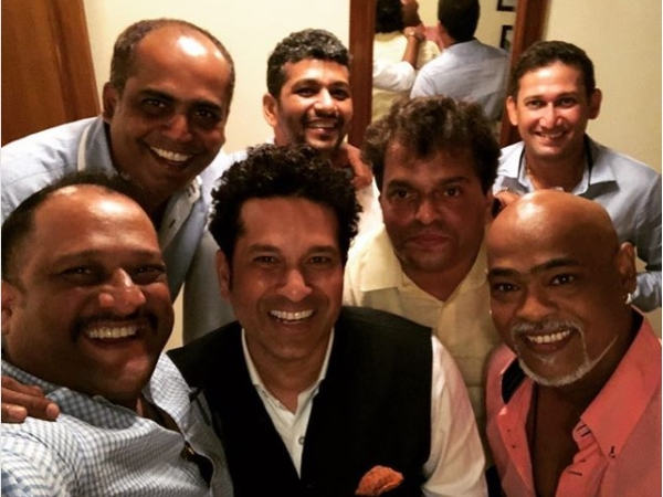 Sachin Tendulkar posts image on instragram with Vinod Kambli, Ajit Agarkar and other Friend