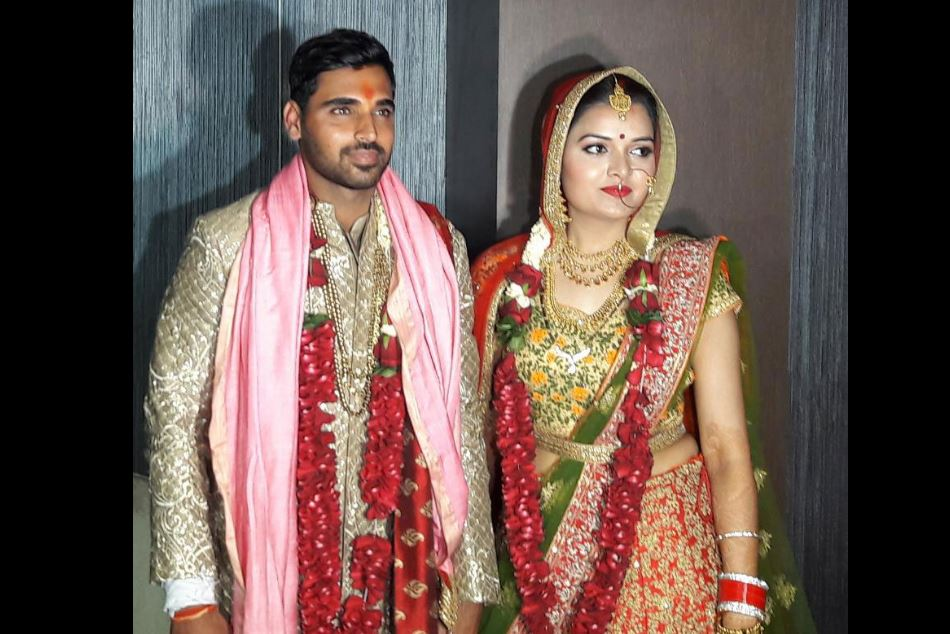 Cricketer Bhuvneshwar Kumar Marriage Pictures