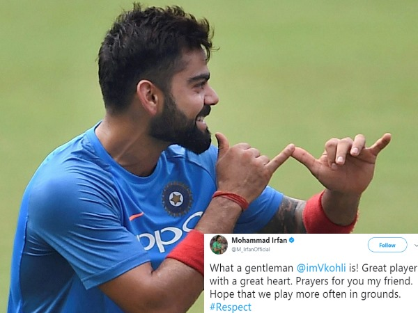 after Shoaib Akhtar, now mohammad irfan hails virat kohli as great player