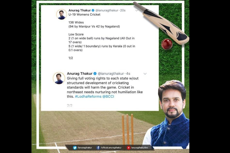 Womens U 19 Team Out Two Runs Anurag Thakur Tweeted Bcci