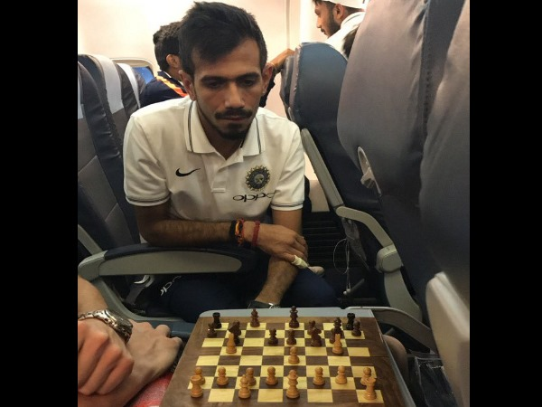 India vs New zealand t20: yuzvendra chahal and ish sodhi chess game in flight