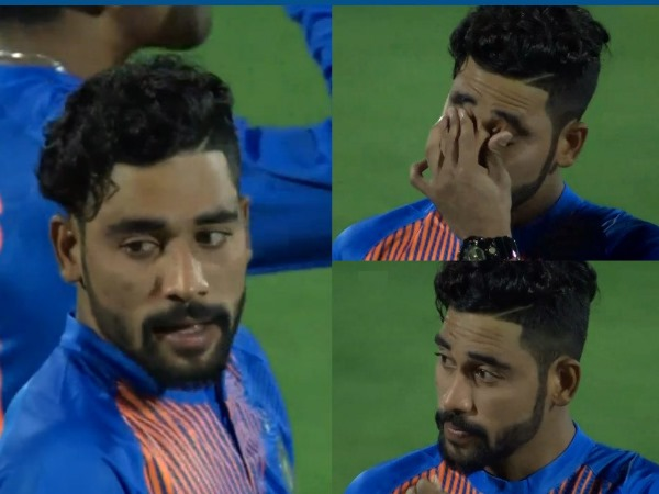 India Vs New Zealand 2nd T20 Mohammed Siraj Has Tears In His Eyes During National Anthem