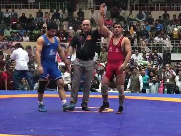 National Wrestling Championship In Indore Sushil Kumar Geeta Phogat Shakshi