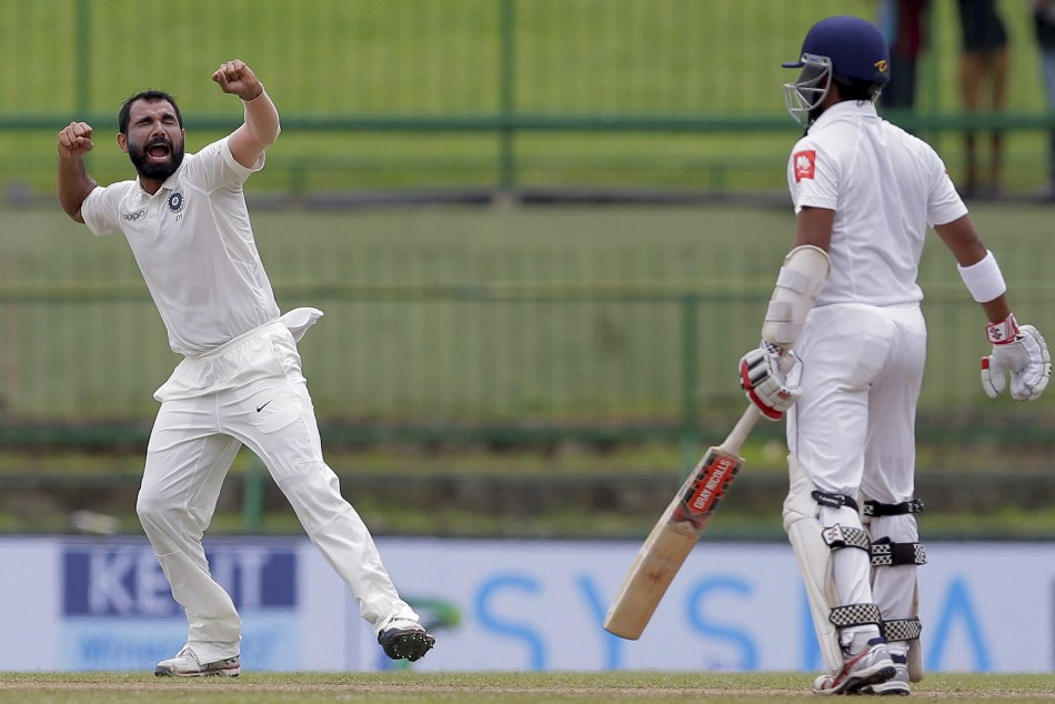 India vs sri lanka 3rd test: mohammed shami take a wicket with the first ball