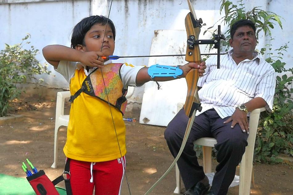 Year Old Archery Sensation Dolly Shivani Cherukuri Aims To Improve Her Performance