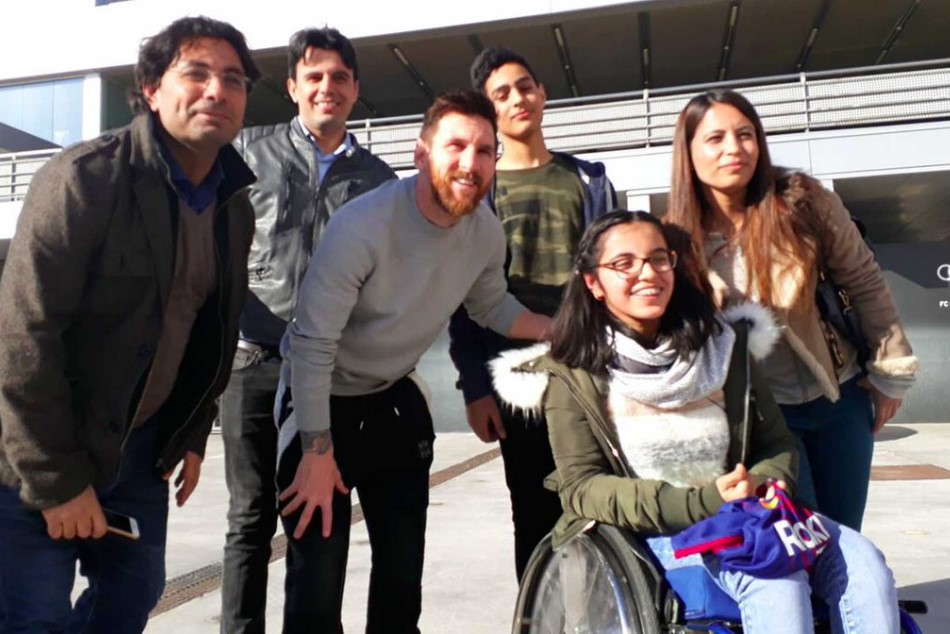 Syrian Refugee Girl Has Her Dream Meeting With Lionel Messi