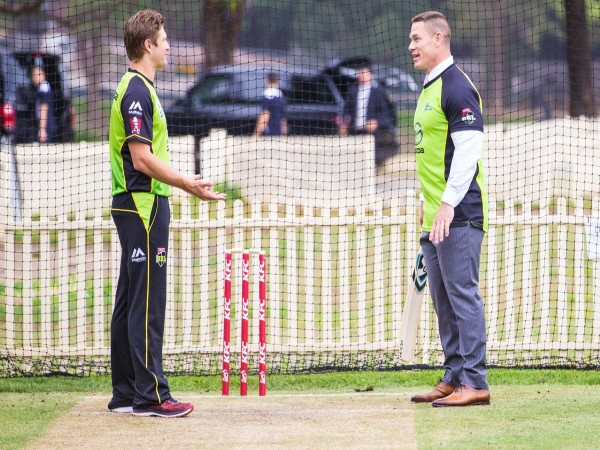 Video Wwe Star John Cena Cricket Ground Gets Bowled With Cricketer Shane Watson