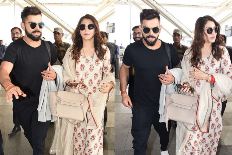 Anushka Sharma Virat Kohli arrive in Mumbai, will be hosting a reception on 26 December