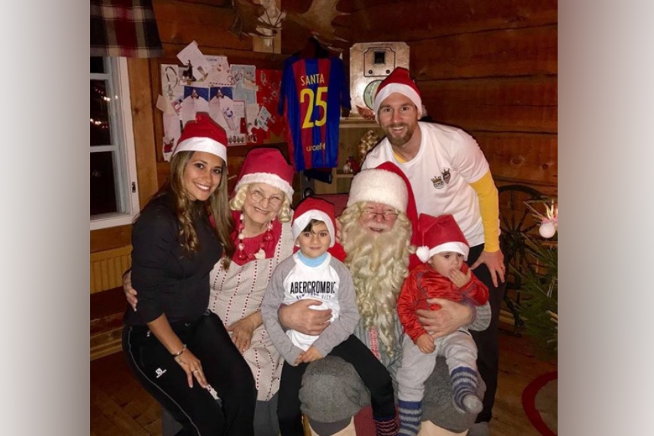 see pictures of Football stars christmas celebration