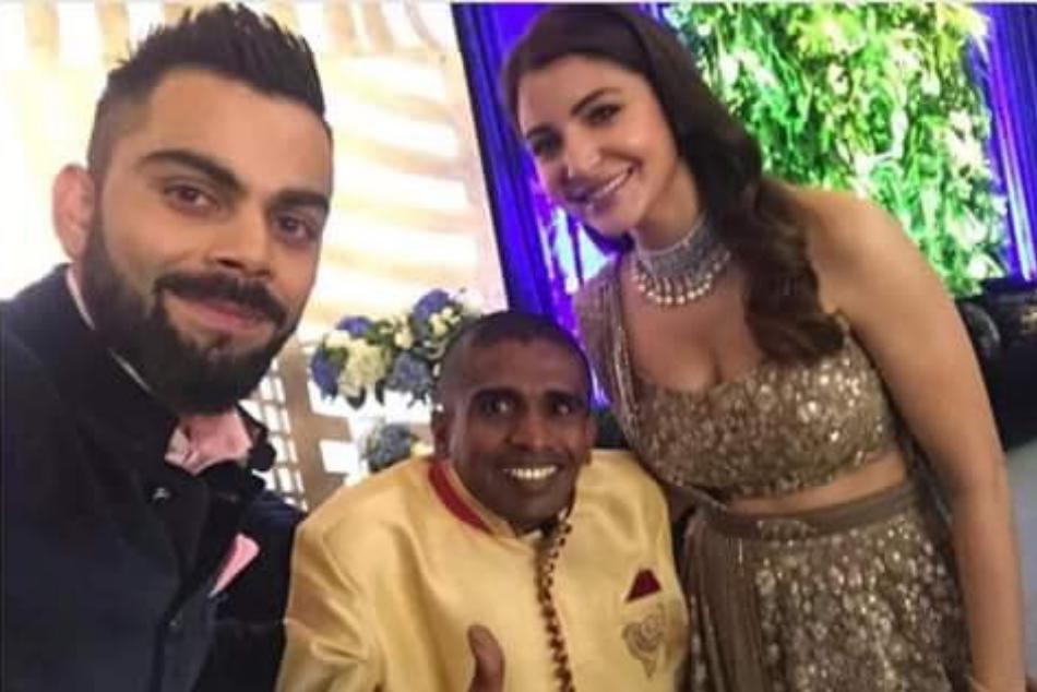 Virat Anushka Mumbai Reception Virat Kohli Has Invited Srilanka S Super Fan Gayan