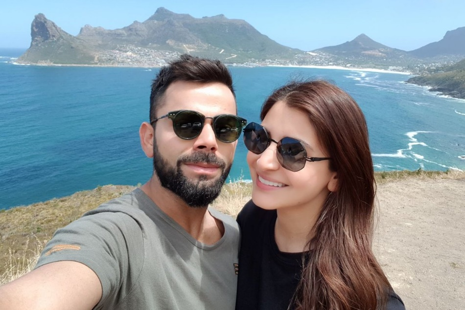 Virat Kohli Anushka Sharma Sends New Year Wishes From Cape Town Posts Picture On Twitter