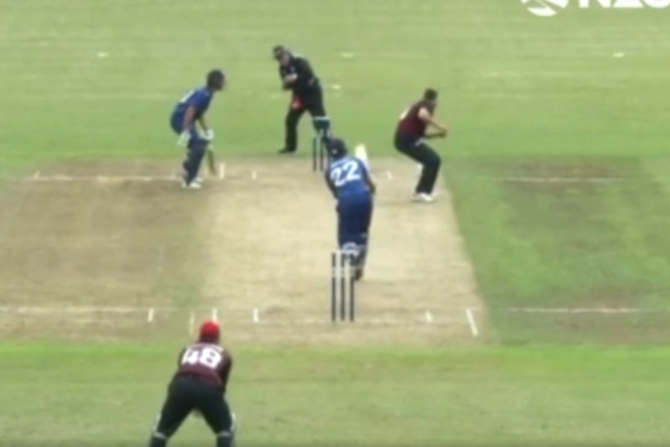 Ball goes for six after hitting bowler's head in NZ 50-over match