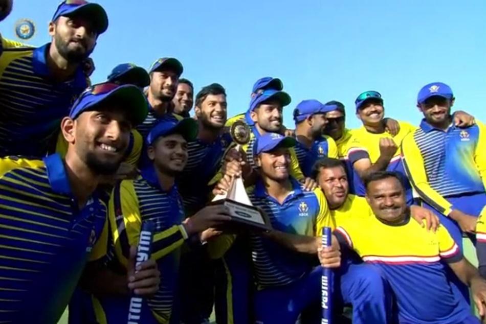 Vijay Hazare Trophy 2018 Final Karnataka Beat Saurashtra 41 Runs To Lift The Trophy