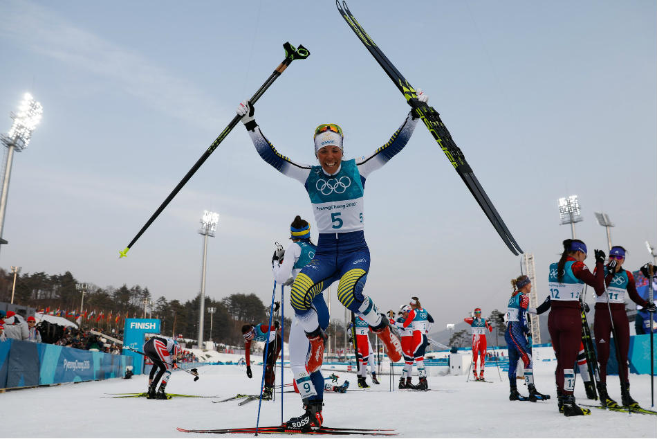 Winter Olympics First Gold Goes Sweden S Charlotte Kalla