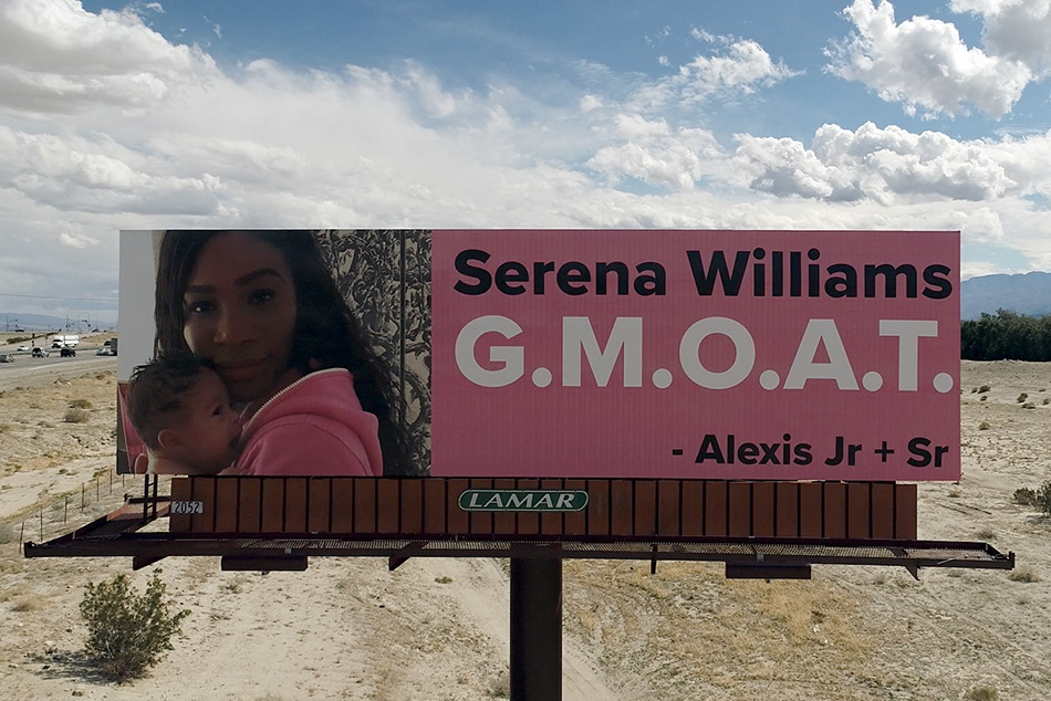 Serena Williams Husband Alexis Ohanian Puts Up Billboards To Mark Her Return