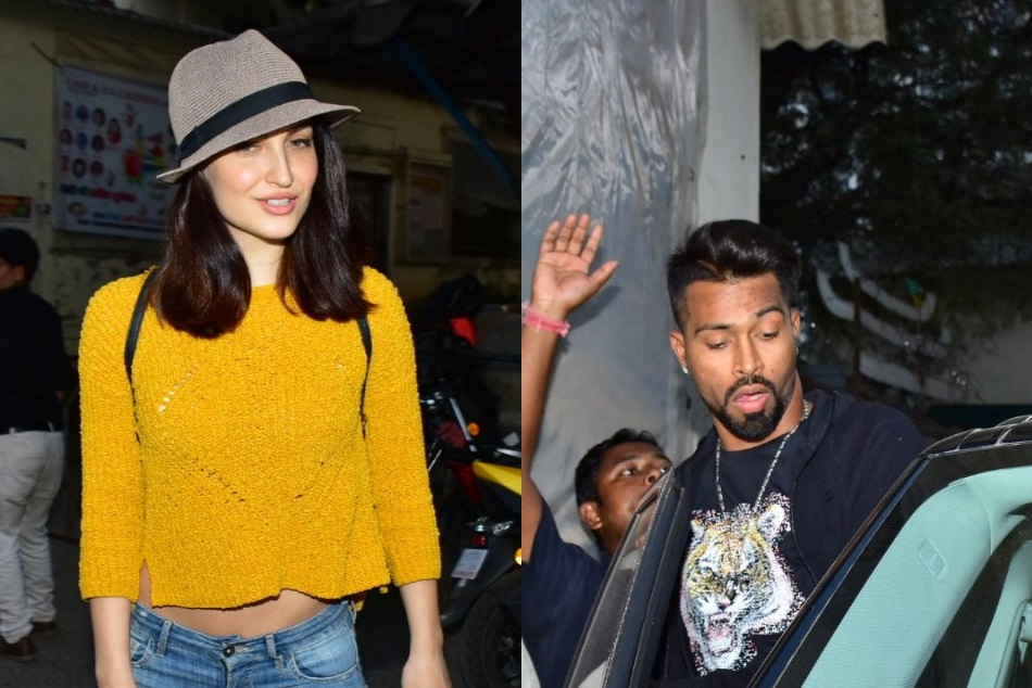 Hardik Pandya Elli Avram Seen Together At Filmistan Studio