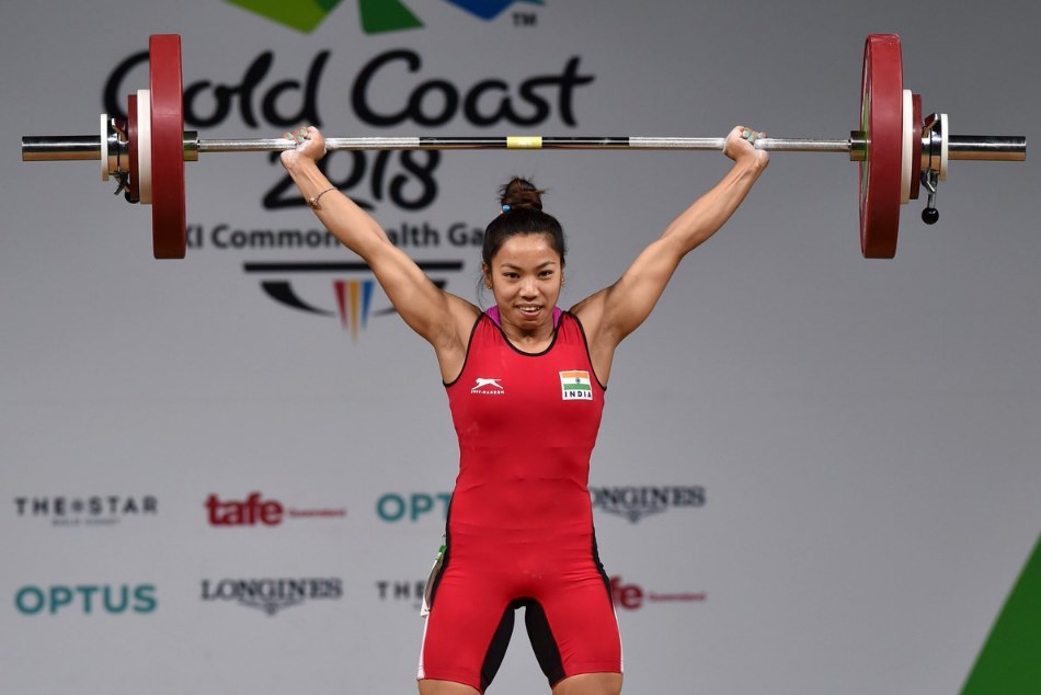 Cwg 2018 Mirabai Chanu Wins Gold Medal Weighlifting 48kgs