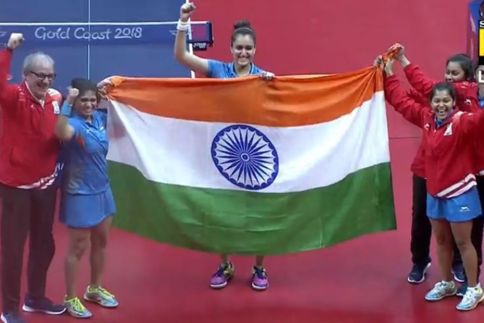 Cwg 2018 Indian Women Defeat Singapore Table Tennis India Win 7th Gold