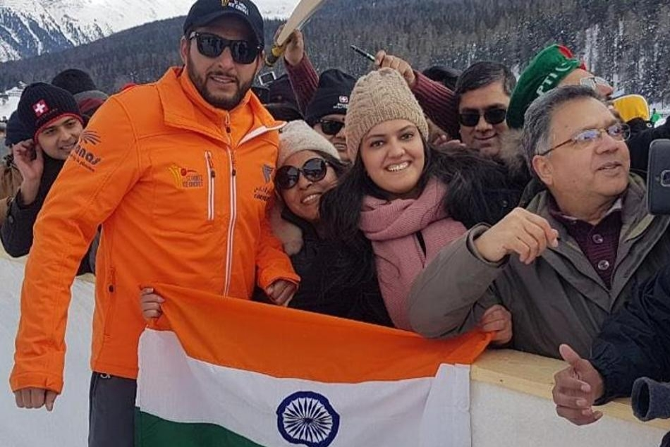 Shahid Afridi Second Tweet On Jammu Kashmir With Indian Flag