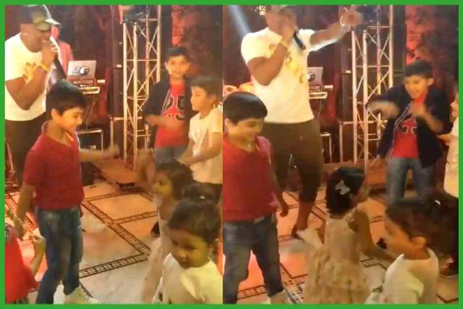 Ziva dhoni dance on bravo song