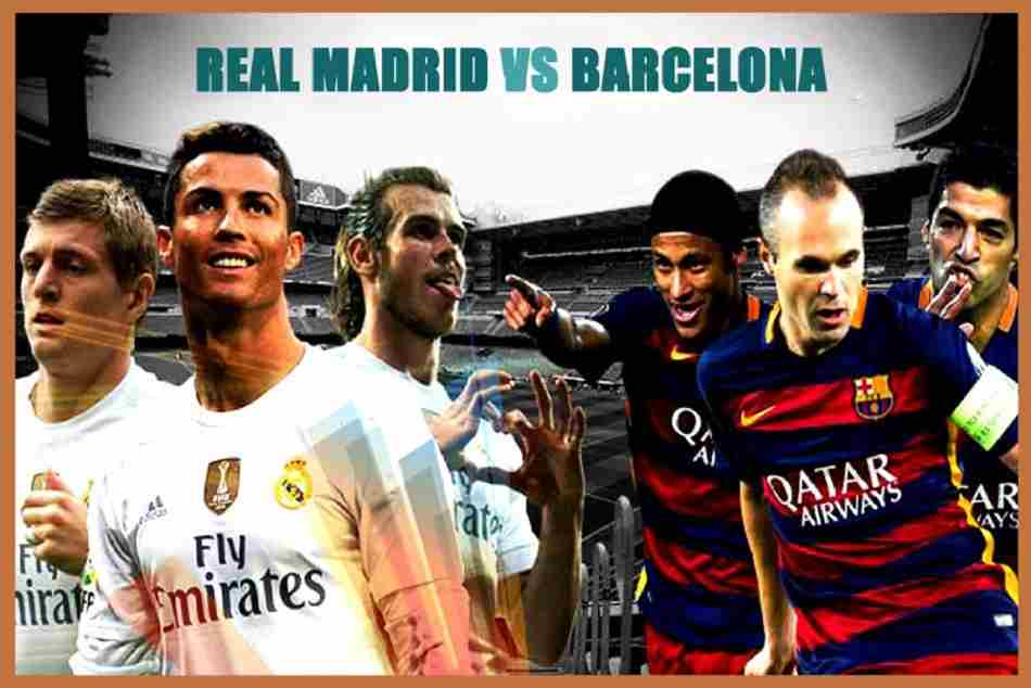 El clasico: barcelona vs real madrid match finished with draw