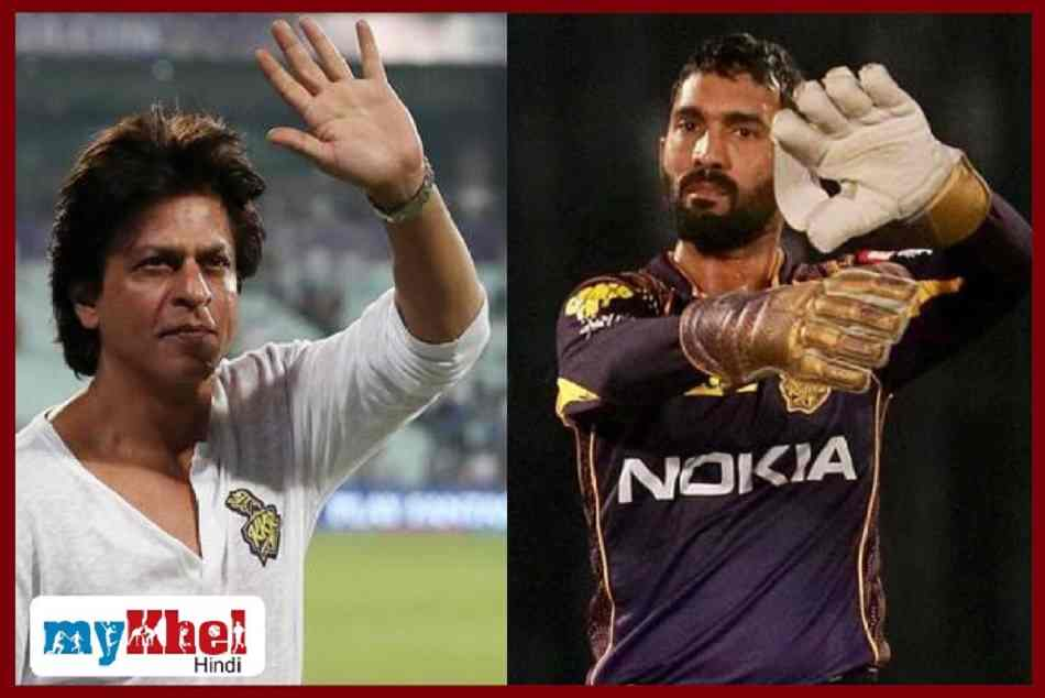 shahrukh khan tweeted a special message for dinesh karthik