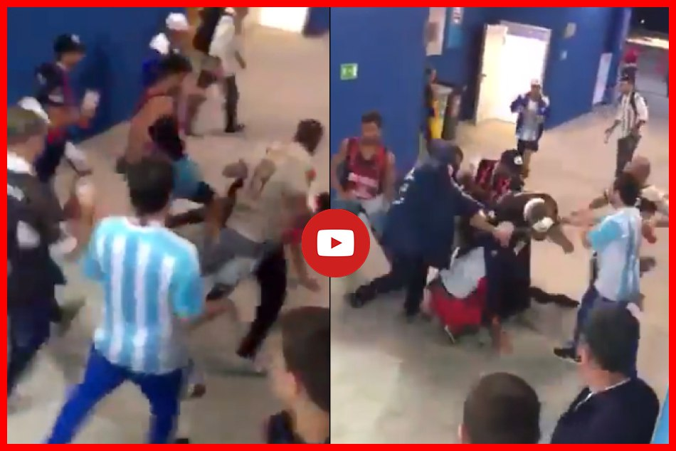 Fans Argentina Croatia Fight During Match